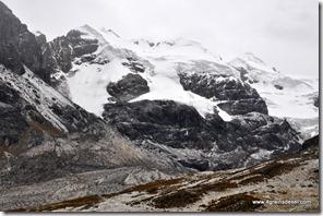 Route Huaraz - Après l'orage de grèle (10)