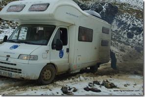 Route Huaraz - Après l'orage de grèle (13)