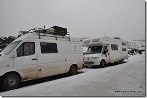Route Huaraz - Après l'orage de grèle (1)