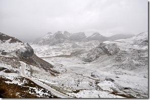 Route Huaraz - Après l'orage de grèle (4)